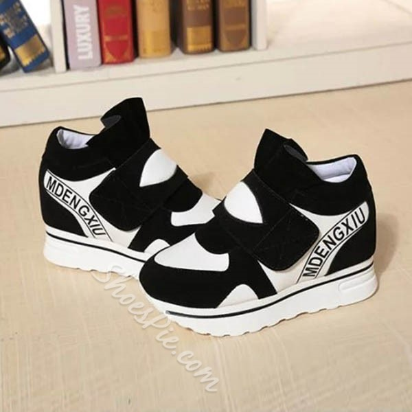 Shoespie Chic Letters Print Velcro Sneakers