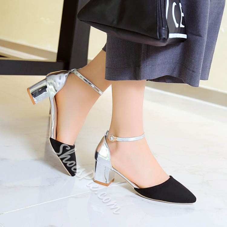 Shoespie Stylish Ankle Wrap Chunky Heels