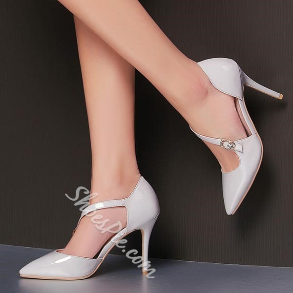 Shoespie Concise Style Buckle Stiletto Heels