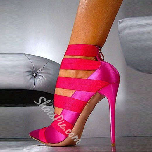 Shoespie Stylish Rose Pointed Toe Stiletto Heels