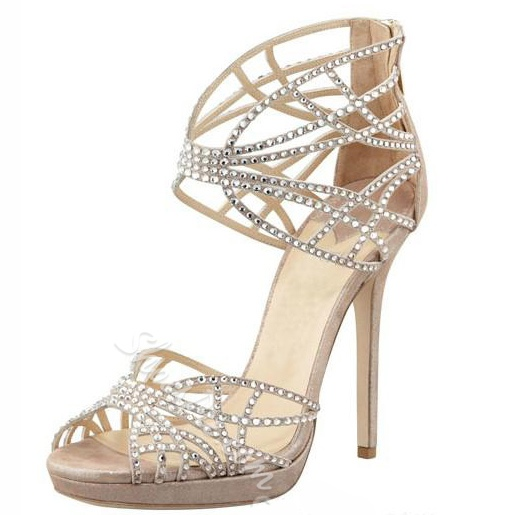 High Quality Rhinestone Women Dress Sandals
