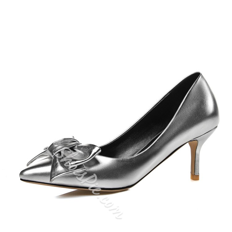 Shoespie Luxurious Bowtie Middle Heels