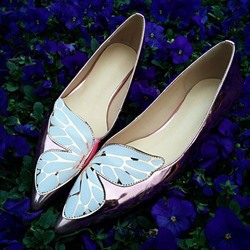 Shoespie Gorgeous Butterfly Pointed Toe Loafers