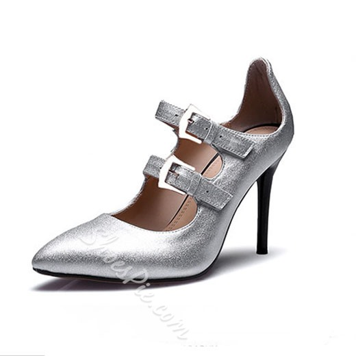 Shoespie Chic Buckles Stiletto Heels