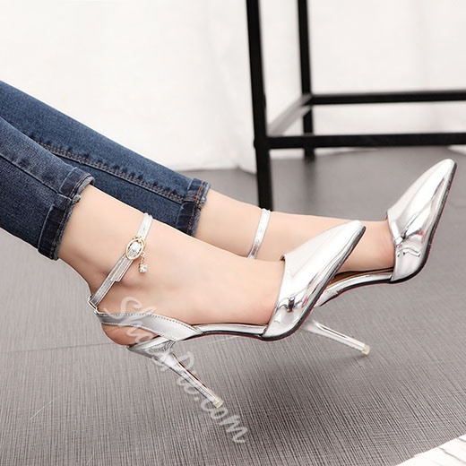 Shoespie Chic Brush Off Ankle Wrap Stiletto Heels