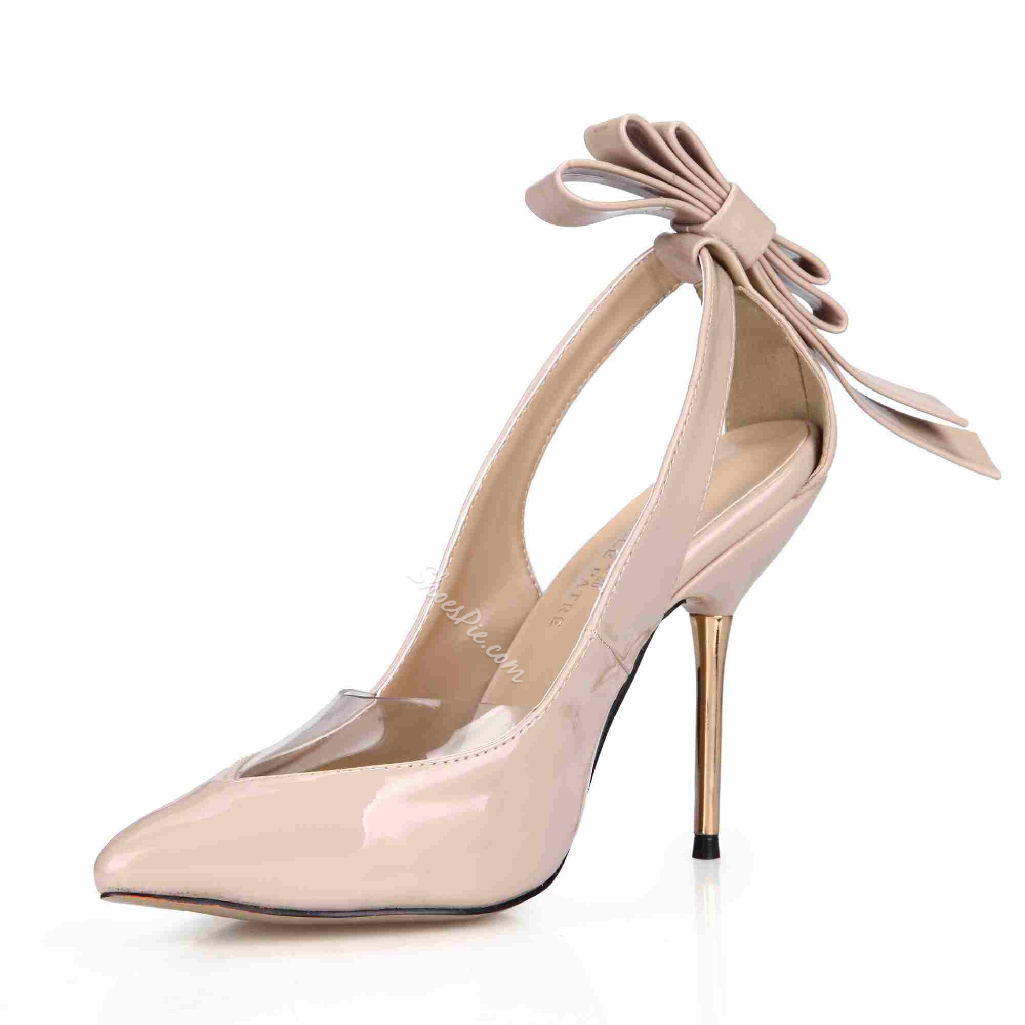 Shoespie Elegant Pointed Toe Knot Stiletto Heels