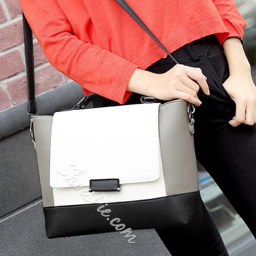 Shoespie Trendy Two Tone Tote Bag