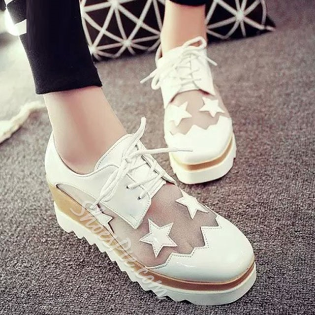 Shoespie Transparent Vamp Stars Sneakers