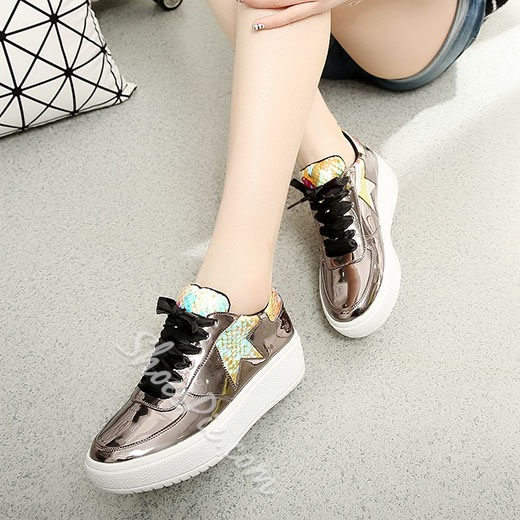 Shoespie Savvy Style Half Star Print Sneakers