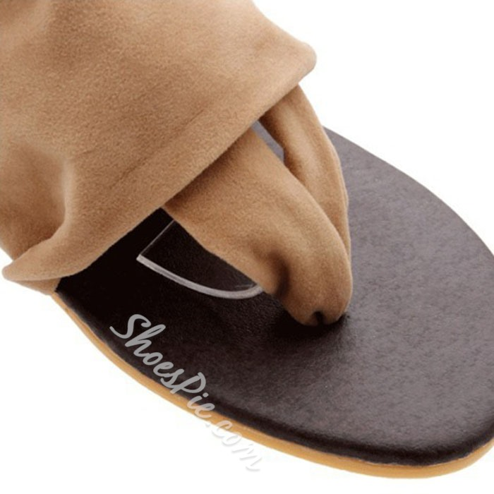 Shoespie Cloth Thong Flat Sandals