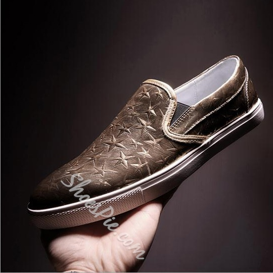 Shoespie Genuine Leather Stars Men's Loafers