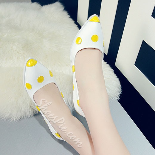 Shoespie Newly Spring Polk Dot Wedge Heels