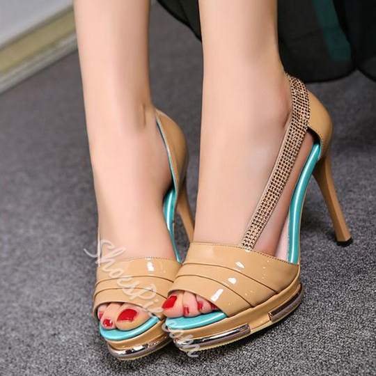 Shoespie Stylish Cutout Dress Sandals