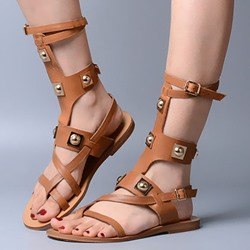 Shoespie Space Age Rivets Gladiator Sandals