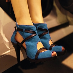 Shoespie Cutout Peep Toe Sandals