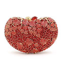 Shoespie Luxurious Mini Heart Shape Clutch