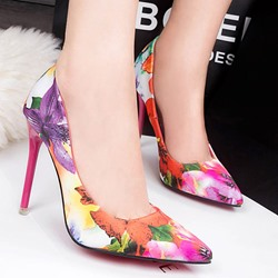 Shoespie Trendy Printed Stiletto Heels