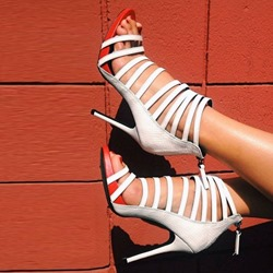 Shoespie White Strappy Sandals