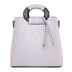 Shoespie Chic Hoop Handgrip Tote Bag