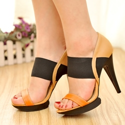 Shoespie Contrast Color Platform Sandals