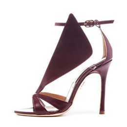 Shoespie Classic Burgundy Dress Sandals