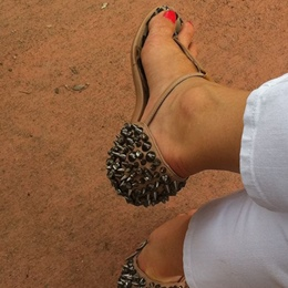 Shoespie Spikes Flat Sandals