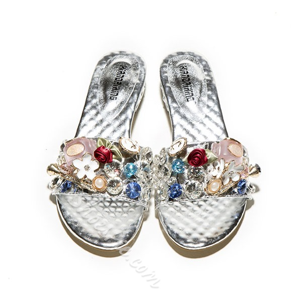 Shoespie Charms And Stones Mules Shoes