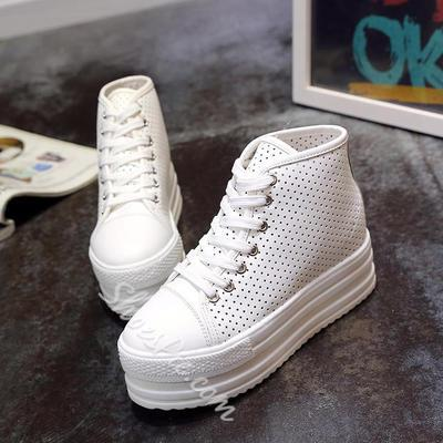 Shoespie Thick Sole Holes Sneakers