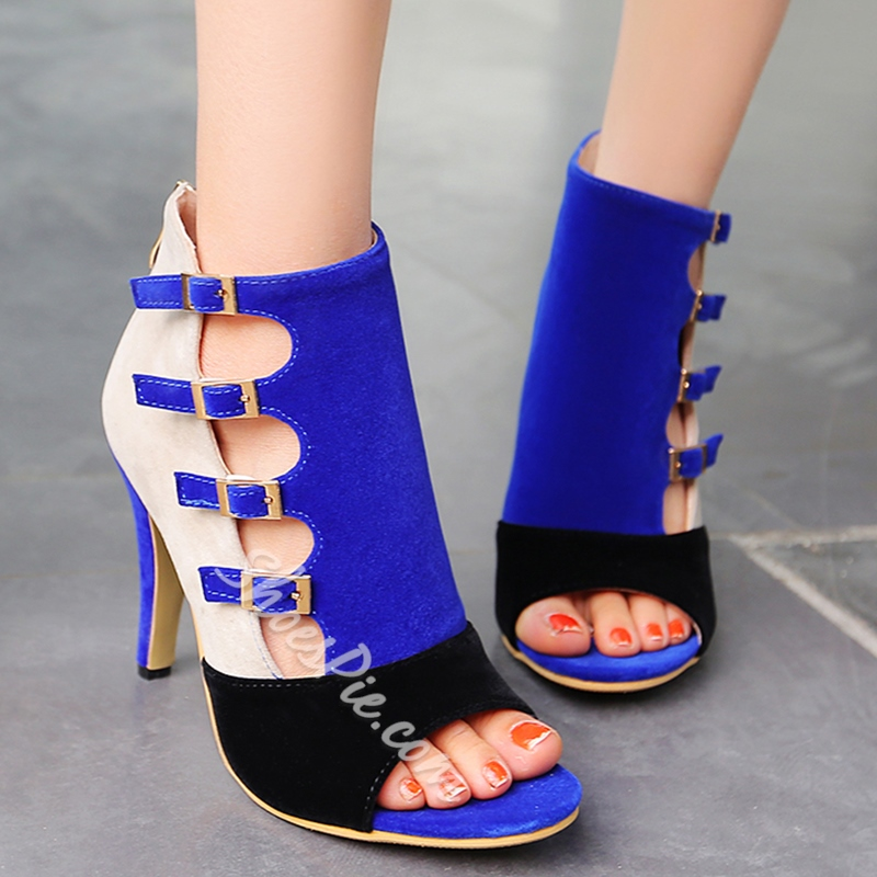 049ba46f276c Shoespie Contrast Color Buckles Dress Sandals- Shoespie.com