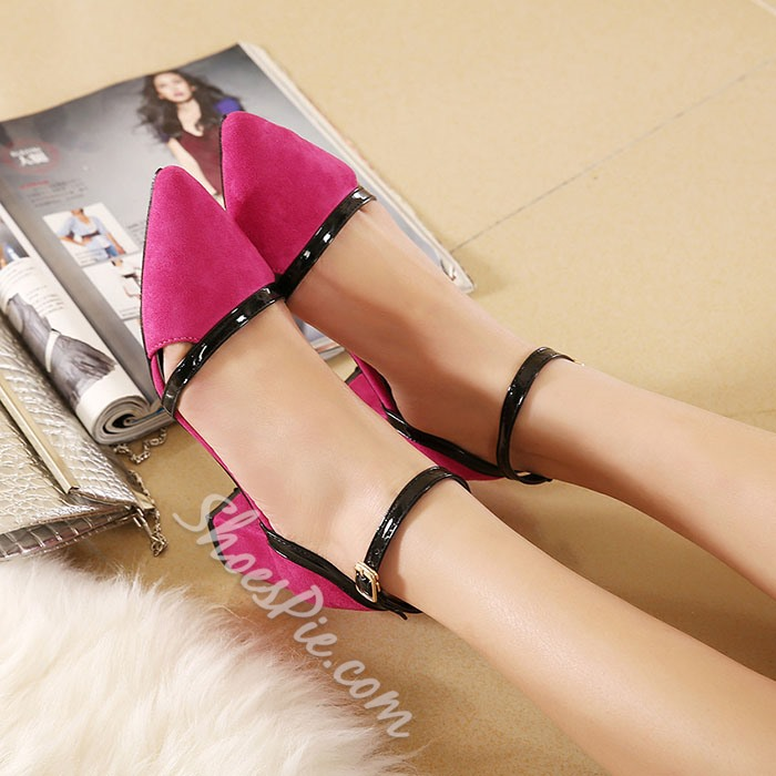 Shoespie Slouchy Ankle Wrap Low Chunky Heels