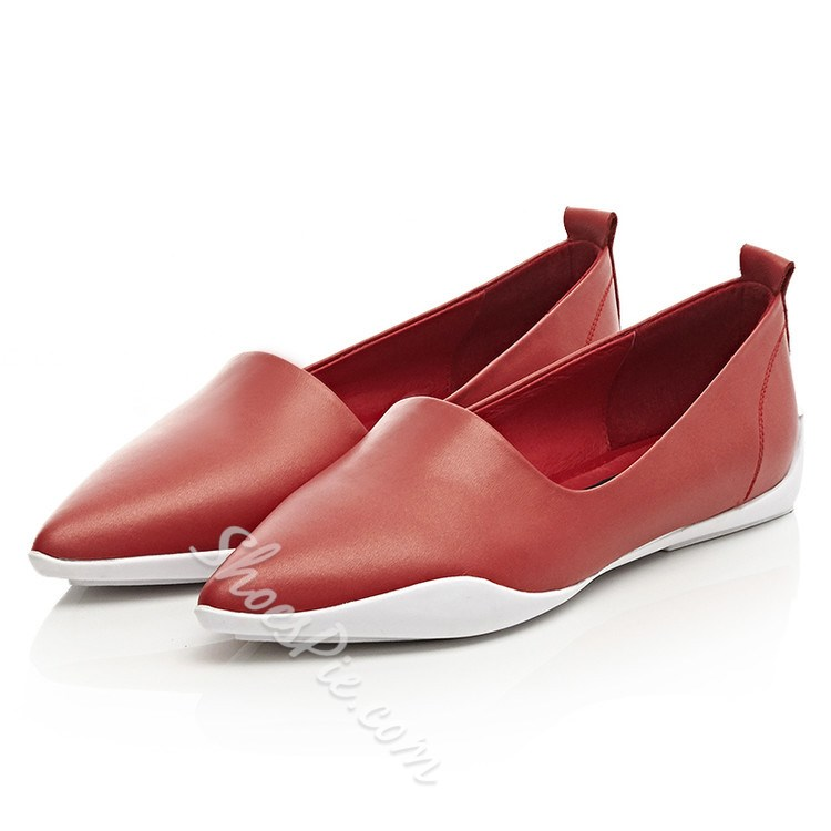 Shoespie Sporty Pointed Toe Loafers