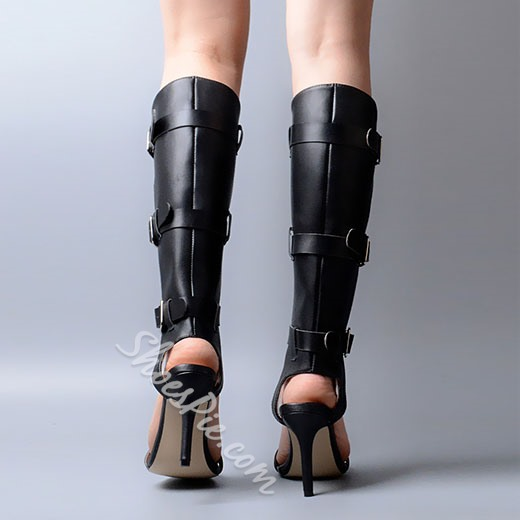 Shoespie Space Age Solid Color Gladiator Sandals