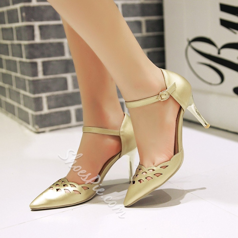 Shoespie Elegant Cut Out Stiletto Heels