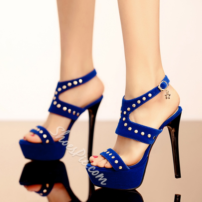 Shoespie Naked Heel Platform Sandals