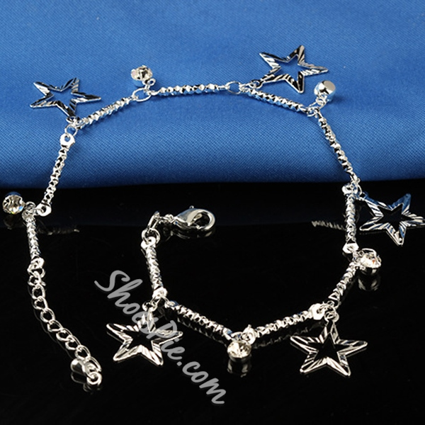 Shoespie Stars Charms Anklets