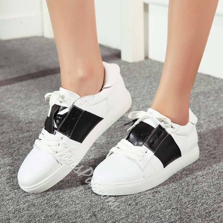 Shoespie Sweet Color Block Sneakers
