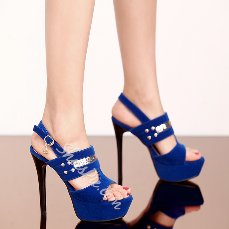 Shoespie Suede Platform Sandals