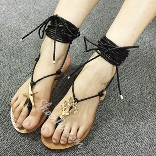 Shoespie Savvy Style Thong Flat Sandals