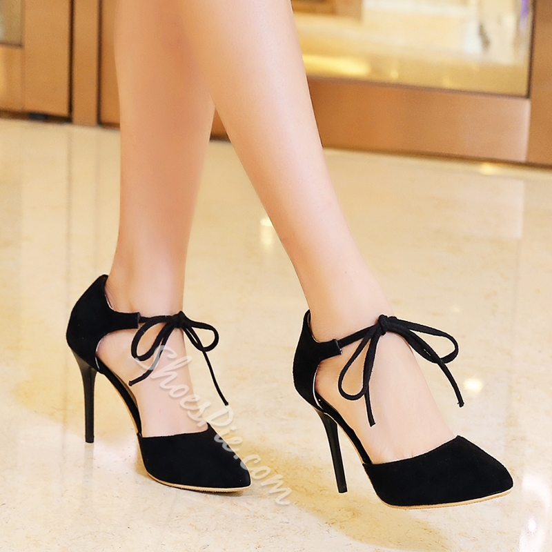 Shoespie Chic Lace Up Stiletto Heels