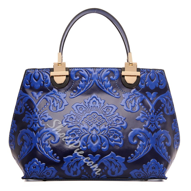 Shoespie Luxurious Embossed Leather Tote Bag