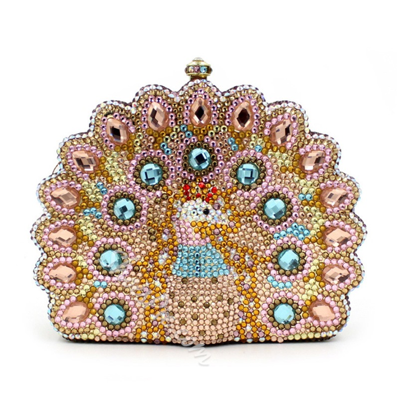 Shoespie Creative Peacock Shape Clutch