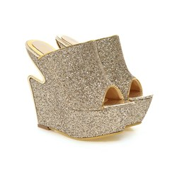 Shoespie Solid Color Mules Wedges