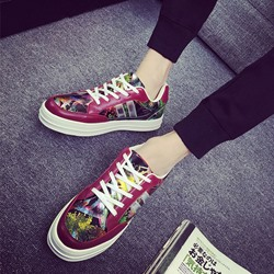 Shoespie Multi Color Flower Print Men's Sneakers