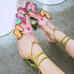 Shoespie Butterfly Lace Up Shoes