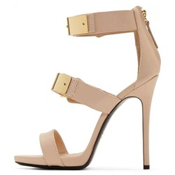 Shoespie Metal Buckles Dress Sandals
