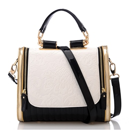 Shoespie Contrast Color Handbag