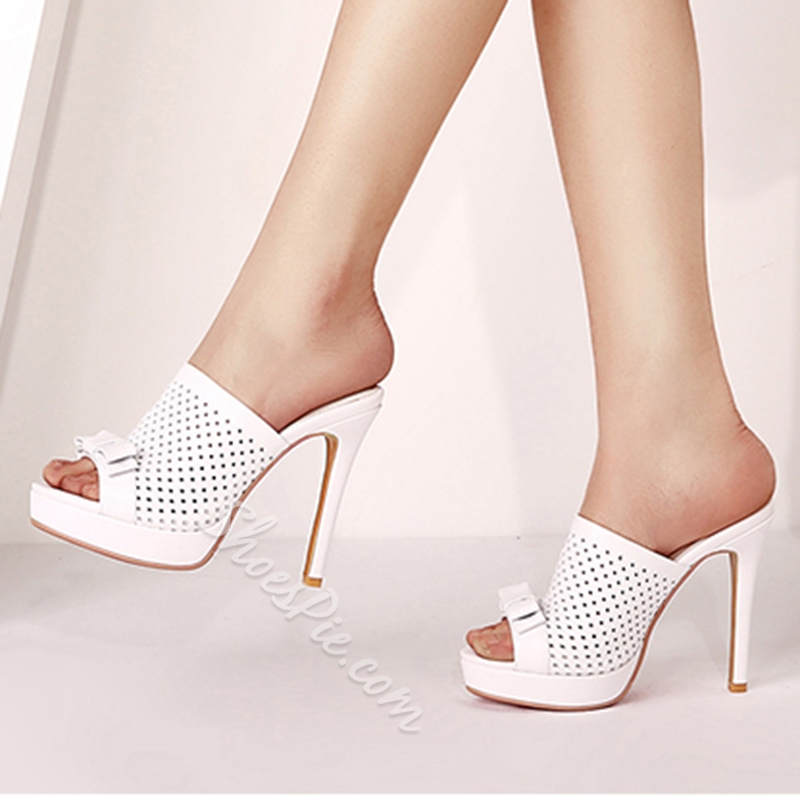 Shoespie Elegant Caged Mules Shoes