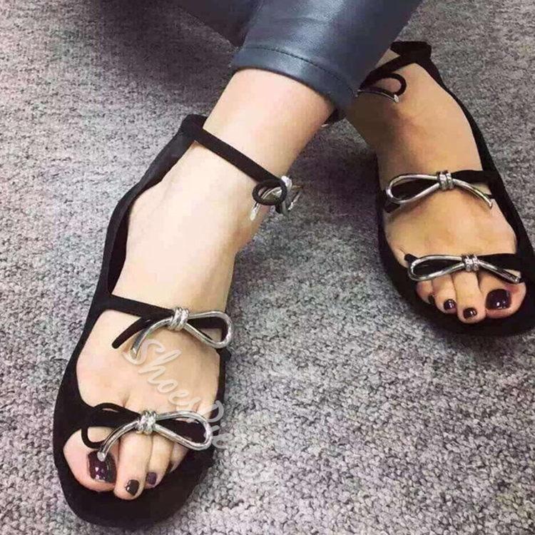 Shoespie Unique Knots Flat Sandals