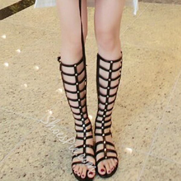 Shoespie Black Gladiator Sandals