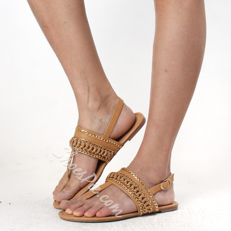 Shoespie Apricot Thong Flat Sandals